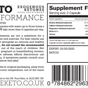 BHB Salts Pure Keto 'PERFORMANCE'